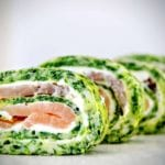 low carb rezept lachs spinat rolle