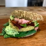 Vegetarischer Low Carb Burger