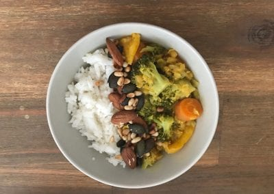 veganes curry rezept